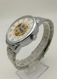 relojes guangzhou Rebajas Reloj mecánico automático de los hombres de acero inoxidable Reloj romano China Guangzhou Moda Marca MUONIC Hollow Luxury Copy Watch