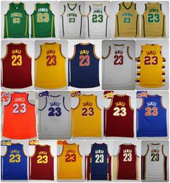 Wholesale Man School - Throwback St. Vincent Mary High School Irish LeBron James Jerseys Basketball Shirt Green White LeBron James No.23 Stitched Jerseys Cheap