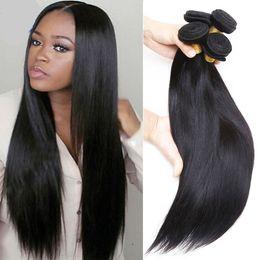 Wholesale High Quality Virgin Hair - Unprocessed Brazilian Virgin Hair Straight 3PCS high quality Grade Brazilian Virgin Hair Human Hair Weave Bundles