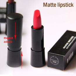 Wholesale Famous Lips - Famous Brand Mineralize Rich Matte Lipsticks Long Lasting Cosmetic Magnet Adsorb Makeup Lipstick Lip Pencil 12 Colors Factory Price