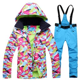 Wholesale Mens Winter Snow Suits - Wholesale- 2017 New Limited ski Pants Waterproof Winter Jacket Women Snow Ski Wear Coat Mens Snowboard Jackets Suit Ropa Mujer Polyester