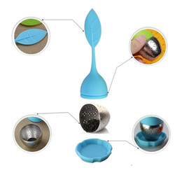 Wholesale Make Filters - Stainless Steel Tea Infuser Silicon Leaf Silicone Infuser with Food Grade Make Tea Bag Filter Creative Tea Strainers Food Grade