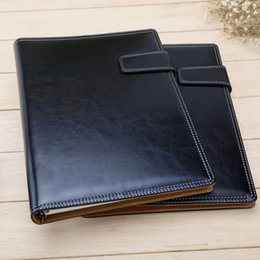 Wholesale High Quality Leather Notebooks - Wholesale- High Quality Beautiful B5 Spiral Business Notebook Stationery Diary Memos Escolar School Office Supplies School Office Supply PL