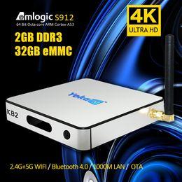 Wholesale Internet Media - S912 TV Box Yoka 2GB 32GB Bluetooth 5G AC WIFI Internet Streaming 17.0 Media Center Fully Loaded Android 6.0 Octa Core TV Boxes