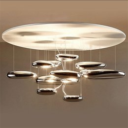 Wholesale G4 Led Lamp Indoor - AC 85-265v Water Drops Silver Dia 60 80CM ABS Pendant Lamp 2017 New indoor home droplight Lighting Decoration Luxury g4 Chandeliers Light