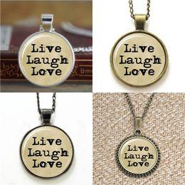 Wholesale Laugh Necklace - 10pcs Live Love Laugh Typewriter & Old Paper Necklace keyring bookmark cufflink earring bracelet