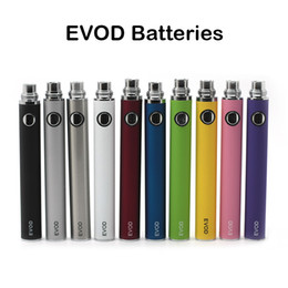 Wholesale Evod Battery Quality - Top Quality EVOD Batteries Ego Threading Battery 650mAh 900mAh 1100mAh E Cigarette Battery Various Colors Fast Shipping