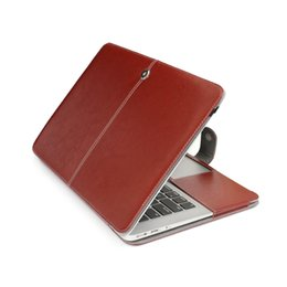 Wholesale Leather Laptop Sleeve 13 - Leather Holster Protective Sleeve Case Cover For Apple macbook Air Pro Retina 11 12 13 15 laptop bag For Mac 13.3 inch