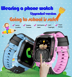 Wholesale Waterproof Gsm Watch Phone - Yisailing Q528 Smart Watch Phone Y21 Children Kid GPS SmartWatch Touch screen SOS GSM GPS LBS Locator Tracker for ios android