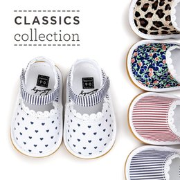 Wholesale Toddler White Canvas Shoes Wholesale - Baby sandals summer new baby girls lace printed soft bottoms sandals children shoes Infant Toddler kids cotton fabric non-slip sandals A0753