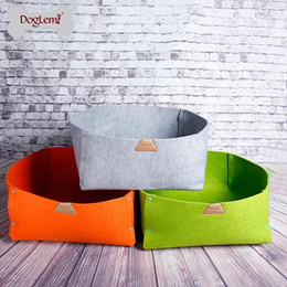 Wholesale Kennel Blanket - 2 IN 1 Nature Pet Bed Blanket Cat Bed- Dog Cat Bedding Cute Handmade Cat Cave Kennel Beds 3 colors