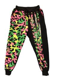 Wholesale Kids Hip Hop Pants - Fashion Brand Kids Adult Sweatpants Tassel Costumes neon color patchwork harem female trousers Harem Hip Hop Dance Pants