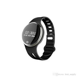 Reloj pulsera saludable online-E07 Impermeable IP65 Bluetooth Smart Watch Pulsera Sport Healthy Podómetro Sleep Monitor Relojes inteligentes para teléfonos Android