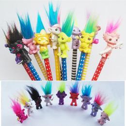 Multi estilos Trolls mini Figuras com Cabelos Desktop Decor Uglydolls dos desenhos animados pvc pen cap Crianças Presentes Do Partido brinquedos promoção de vendas presentes de