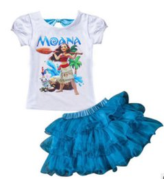 Wholesale Dream Kids Clothes - Baby Moana Girls Print Dream Tropical Ocean Dress Kids Clothes Children Short Sleeve Summer Party Princess Dresses