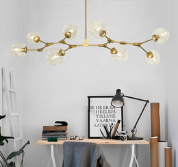 Wholesale Art Glass Hanging Lamp - New Lindsey Adelman Globe Branching Bubble Chandelier Glass Chandelier Suspension Hanging Pendant Light Glass Pendant Lamp 1 5 7 8 Heads