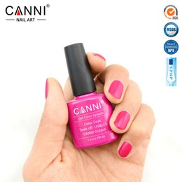 Wholesale Stamping Nail Art Color - Wholesale- CANNI Gel Polish LED UV  Soak off Color Polish Nail Gel 239 Colors Can Choose 7.3ML French Art Vernis Ongle Painting Stamping Es