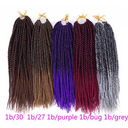 "Wholesale Cheap Hair Extension Pieces - Senegalese braiding hair 12"" single twist cheap kanekalon synthetic hair extensions crochet twist braid for black women"