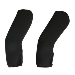 Wholesale Neoprene Handles - Wholesale- 2Pcs lot Useful Black Neoprene Baby Stroller Grip Cover Stroller Handle Protector Carriages Poussette Cover For Monther Care