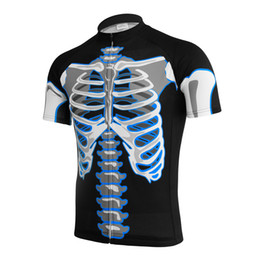 Wholesale Skeleton Cycle Jersey - Customized NEW Hot 2017 skeleton skull JIASHUO mtb road RACING Team Bike Pro Cycling Jersey   Shirts & Tops Clothing Breathing Air