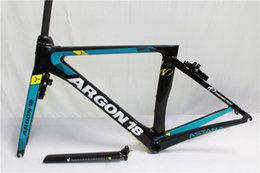 Wholesale Bikes Frames China - New model new color Argon 18 blue red white and black PF30 glossy or matte carbon road frame racing bike cheap bicycle from china factory