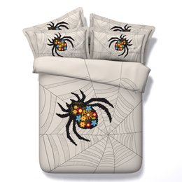 Wholesale Full Fashion Bedding Set - Spider Knotting New Fashion 3D Bedding Sets 4pcs Comforter Sets Tiwn Full Queen King Size Duvet Cover Bed Sheet Pillowcases cenery