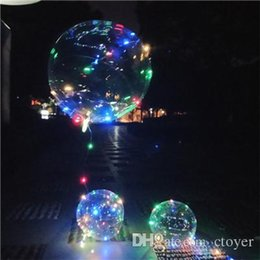 Wholesale String For Kids - New Air bobo ball wave With 4 Color LED&line string balloon light with battery for Christmas Halloween Wedding Party home Decoration