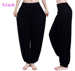 Wholesale Harem Dance - Women Lady Harem Yoga Cotton Comfy Long Pants Belly Dance Boho Wide Trousers yoga pants many colors for women ladies
