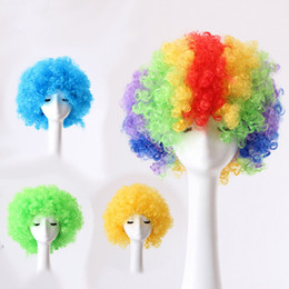Wholesale Performance Fans - Christmas dance party fans wig head wig revelry performance props 9 color elastic 100pcs lot IC687