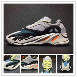 Wholesale Men Casual Shoes 46 - 2017 Christmas gift Kanye West Wave Runner 700 Running Shoes White-Core Black Authentic Boost 700 Casual Sports Sneakers size 36-46