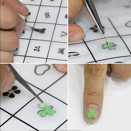 Wholesale Nail Art Sheets - Silicone Nail Art Stamping Sheet 3d Polish Stickers Stamp Mat Manicure Pedicure Practice Transparent Pad Multi Use Gift 2017 Hot