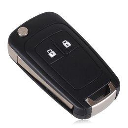 Wholesale Chevrolet Cruze Key - 50 PCS Flip Folding Remote car Key Shell For Chevrolet Cruze Button remote key shell case replacement