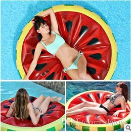 Wholesale Girls Inflatable - New Arrival Watermelon Inflatable Float 1.6m Giant Lemon Inflatable Float Swim Toys Sunbathing Women Pool Party Swimming Toys For Adults