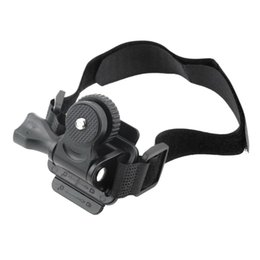 Wholesale Camera For Helmets - Wholesale- Adjustable Head Vented Helmet Strap Mount for Mobius ActionCam Sports Camera Video DV DVR Bike Helmet Mount Bicycle Holder new