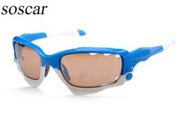 Wholesale Racing Jackets Orange - soscar RACING JACKET Brand Designer Sunglasses for men Ride Sports Sunglasses Comfortable Eyeglass Flash Mirror Lenses