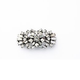 Wholesale Art Deco Silver Plated - 2016 Brand Fashion Luxury Wedding Bridal Jewelry Antique Silver Plated Sparkling Crystal Art Deco Hair Claws