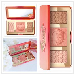 Wholesale Hot Glow - Factory Direct DHL Free Shipping New Arrivals hot new Sweet Peach Glow infused Bronzers & Highlighters makeup blush palette