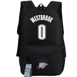 Wholesale Running Numbers - 0 number Basketball backpack Russell Westbrook school bag Running daypack Teenager schoolbag Outdoor rucksack Sport day pack