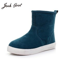 Wholesale Mens Blue Suede Ankle Boots - Wholesale-2016 hot sale women boots Genuine Leather ankle suede snow boots winter shoes for men and women mens boot shoe 35-44