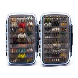 Wholesale Fish Tie - 180Pcs Wet Dry Nymph Fly Fishing Flies Set Fly Lure Kit Hand Tied Flies for Trout Pike Grayling Fish Lures Top Quality
