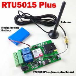 Wholesale Gsm Sms Input Output - Wholesale- RTU5015 Plus GSM Remote board with two alarm input and one relay output Free Call and SMS control Compatible RTU5024 with app