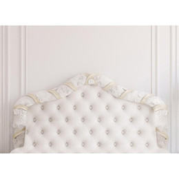 Wholesale White Princess Bedding - 7x5ft Baroque Tufted Headboard Bed Photography Backdrop White Wall Indoor Wedding Princess Picture Background Studio Photo Shoot Props