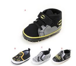 Wholesale Bat Superman - Drop shipping spring Superman bat toddler shoes,0-18 M unisex sports shoes,soft kids casual shoes,boys walking shoes!9pairs 18pcs.C
