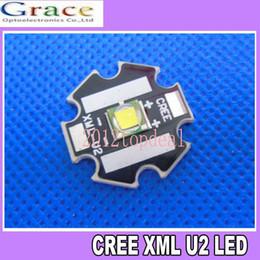 Wholesale U2 Led - Wholesale- HOT Cree XLamp XML U2 10W LED Emitter White 6000k-6500k Color With 20mm Star Base PCB