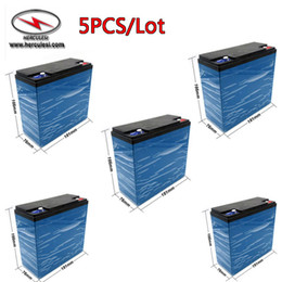Wholesale Accu Battery - 5PCS Lot deep cycle batteries 12V 20Ah lifepo4 lithium ion solar battery pack for accu bateria 12v 100ah or 60V 20Ah aku bateria