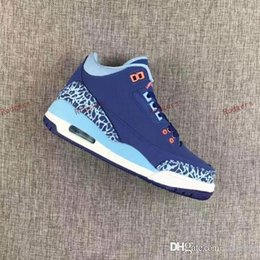 Wholesale Dust Caps Shoes - Free Shipping Discount Air Retro 3 III 2017 GS Purple Dust Blue Cap Woman Basketball Shoes High Quality Wholesale Size 5.5 8.5 Sneaker