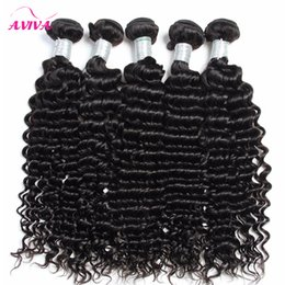 Wholesale Jerry Curly Virgin Brazilian Hair - Brazilian Deep curly Virgin Hair Weaves 3pcs lot Natural Color Jerry Curly 100% Human Hair Extensions Bundles Can be dyed