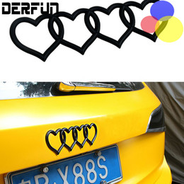 Wholesale Abs Audi A4 - DIY 5 Colors Heart Car audi Tail logo badges change Cute Smart for Q3 Q5 A4 A6L A6 A7 A8 S5 S3 all series