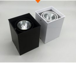 Wholesale Off White House - Free Shipping Hot Selling 5W dimmable square LED Downlight white and black color housing AC85-265V Epistar LED chips WW NA CW Color