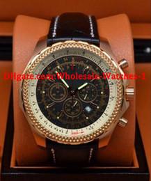 2019 relógio grande homem branco Venda por atacado - Novo 44mm Mecânica de ouro super big stop watch limitado Branco Dial Mens Watch Stainless Steel Relógios de pulso dos homens Relógios relógio grande homem branco barato